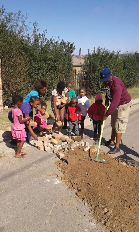 The children called in the help of Sifiso Mkahlipi to make the area safer for them