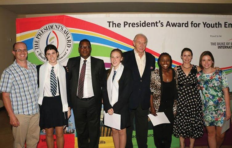 Presidential awards ceremony with Jess Nunes on the far right