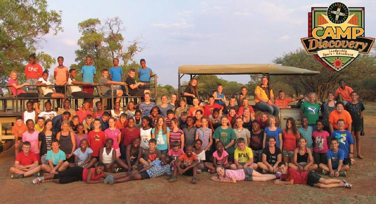 Die groep op Camp Discovery / The group at Camp Discovery