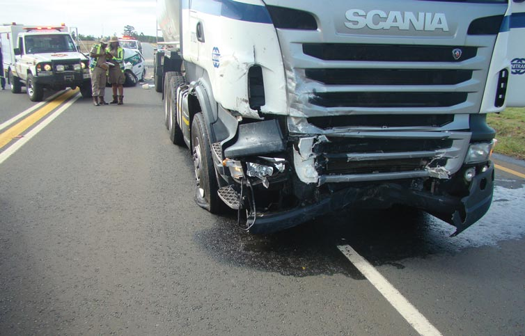 What the truck looked like after the collision