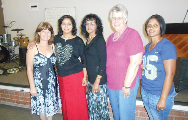 Some of the mums and grannies that attended the high tea