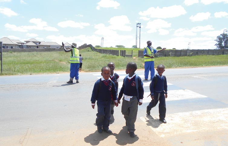 The car wash workers with the learners