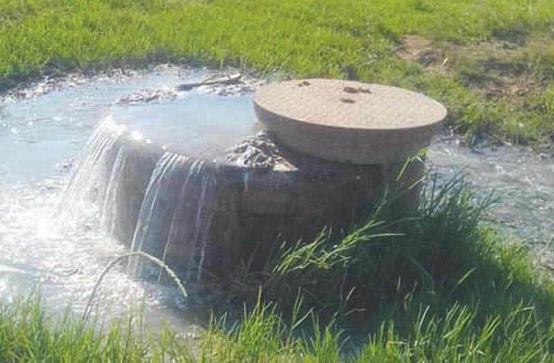 Blocked seweragesystem contaminates rivers