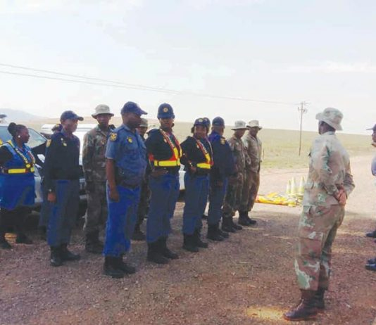 Roadblock conducted by women