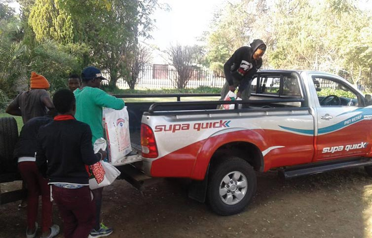 Supa Quick sponsored a vehicle to help deliver to rural areas
