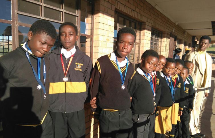 Sibahle Primary School participated and received medals
