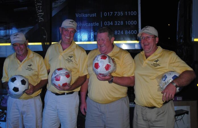 The proud tekwani team with their soccerballs