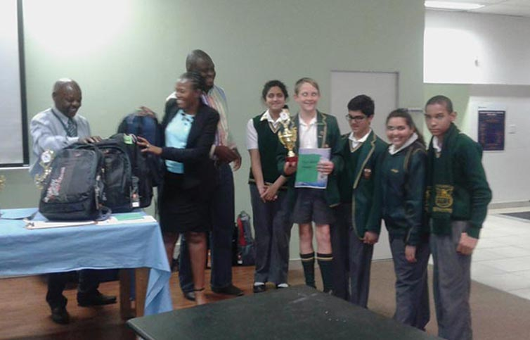 Harmony Park Combined and Piet Retief Primary School, the 1st and 2nd runners-up