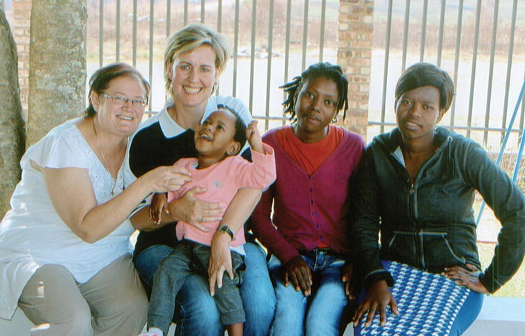 Sinenhlanhla with the Busy Bees Daycare team