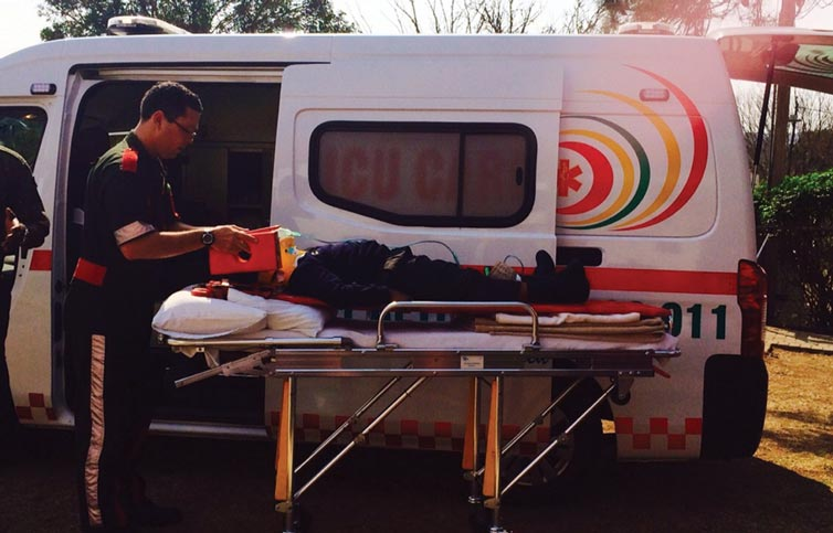 Paramedic JC explaining how lives are saved