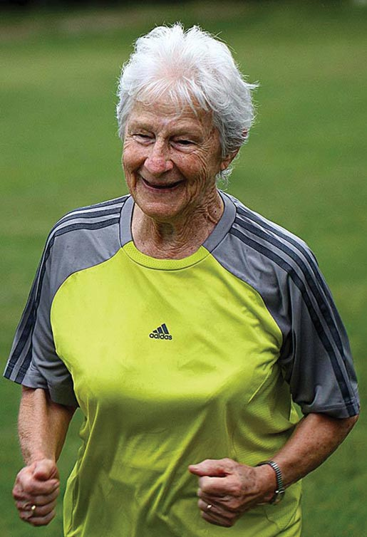 """Tante"" Linda Breckwoldt - oldeste participant and inspiration to all"