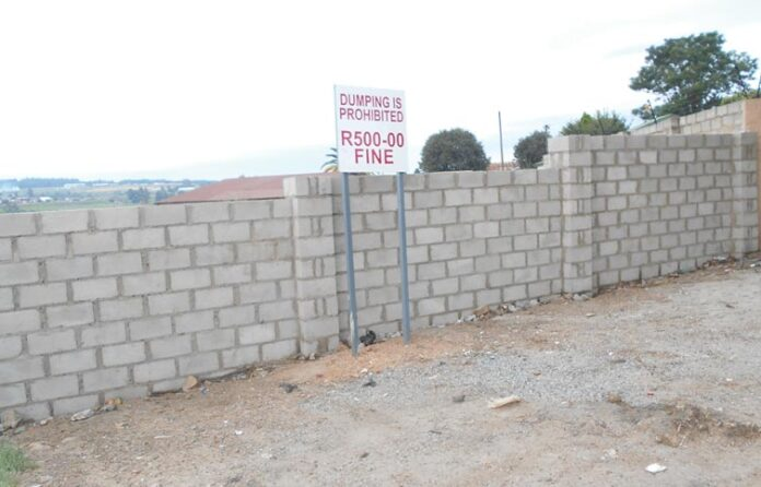 Safety Wall Erected by Residents of Kempville