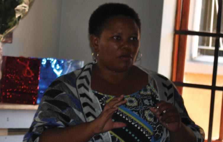 Nurse Sharon Manana (Piet Retief Provincial Hospital) relating what they experience when victims are brought to hospital