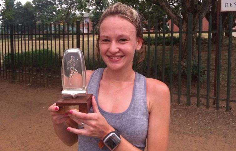 Laiken with her well-deserved handicap time trial trophy