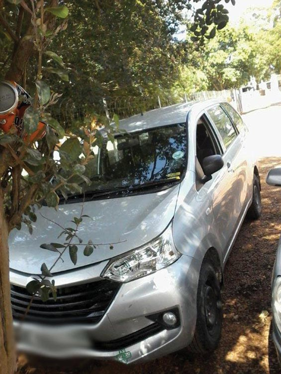The Toyota Avanza that the suspects were travelling in