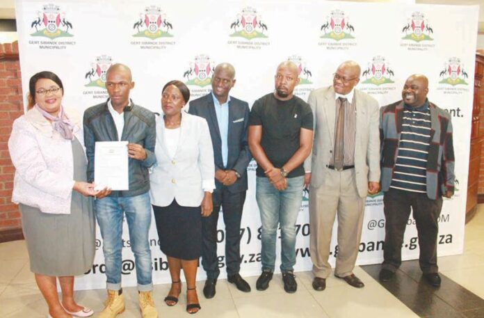 Bursary hand-over and recognition of hard work