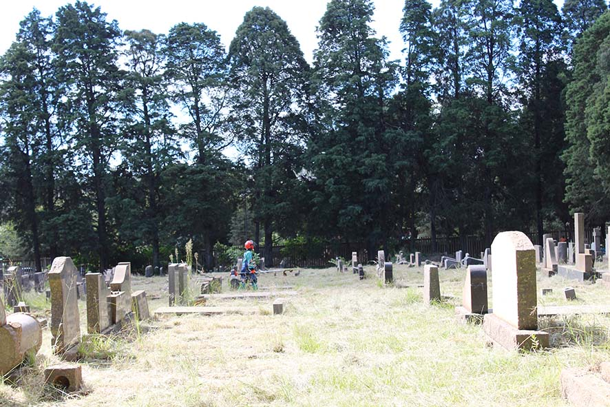 Cemetery cleaned