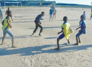 Rural African mini-soccer tournament