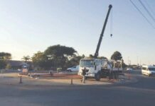 Traffic circle in Piet Retief Mkhondo