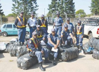 SAPS seized counterfeit branded clothing