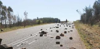 Infuriated residents close road