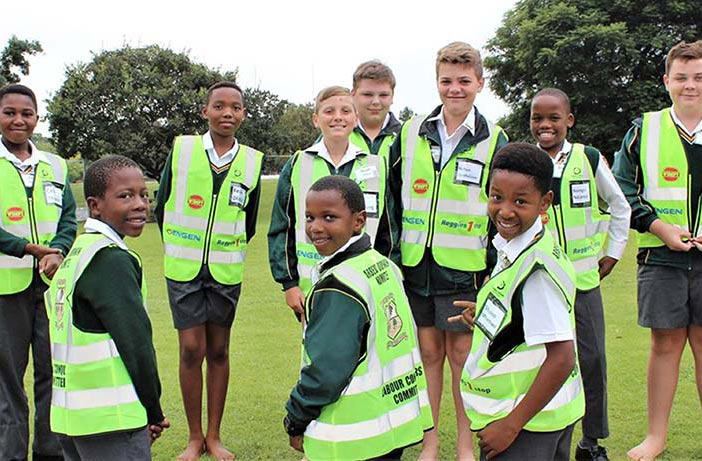 Business assists in road safety.Proud to be members of the scholar patrol team