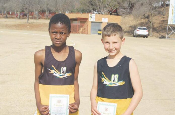 Piet Retief Primary School's athletes take part in cross-country