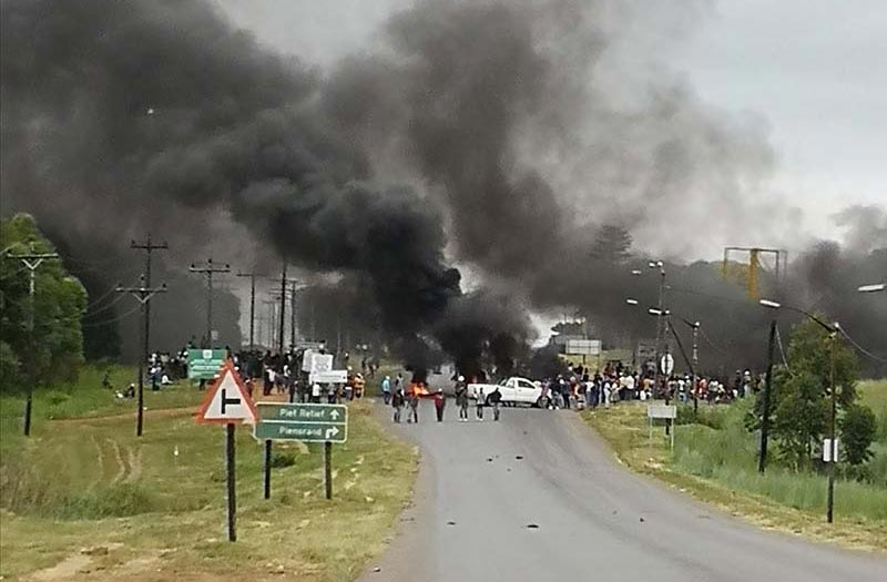 Protest comes to light in Paulpietersburg