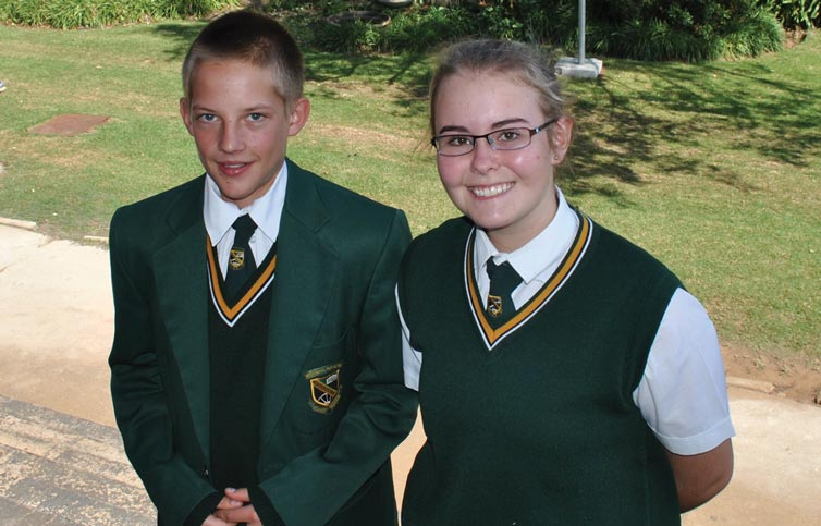 CHESSA section C, Joshua Carr (3rd) and CHESSA section D winner Henno Smit Lené Viviers (2nd)