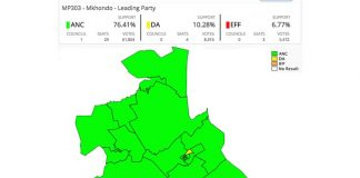 2016 Municipal Elections Results for Mkhondo