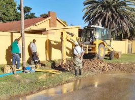Water shortage from burst water pipe