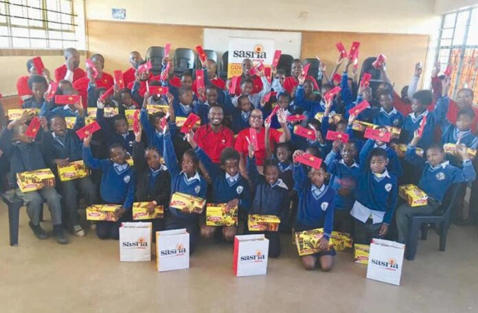 Ndawonye Primary School's learners receive gifts