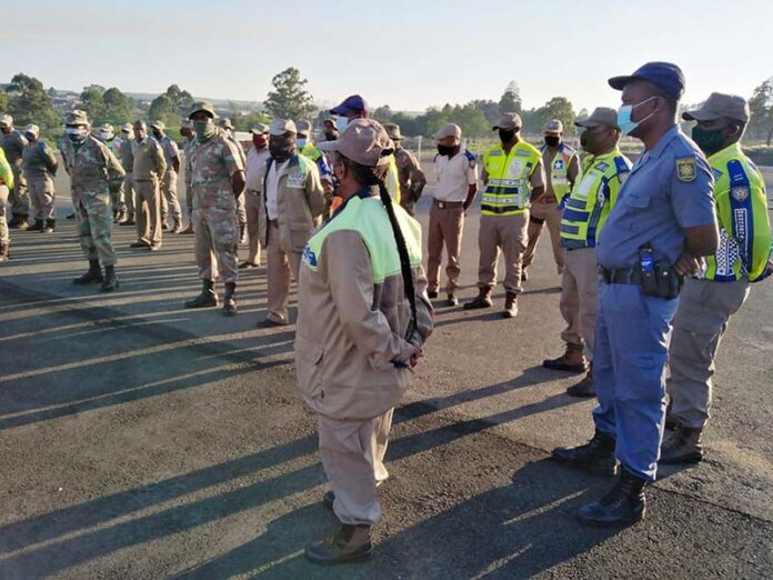 Officials join forces to conduct roadblocks