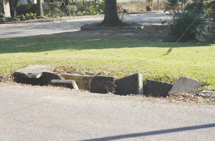 The storm-water drain at the corner of Von Brandis - and Kemp Street is very dangerous