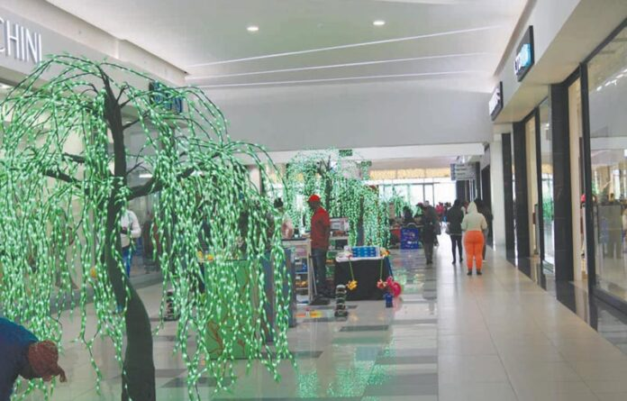 Mall@Mfula is busy with Christmas decorations and the Festive Season feeling is looming
