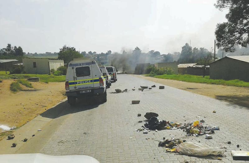 Extensive damage caused due to ongoing riot in Mkhondo