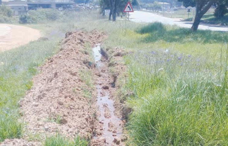 Sewerage leaks into stream