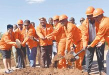 "Sod-turning for the ""new"" Klipwal Road"